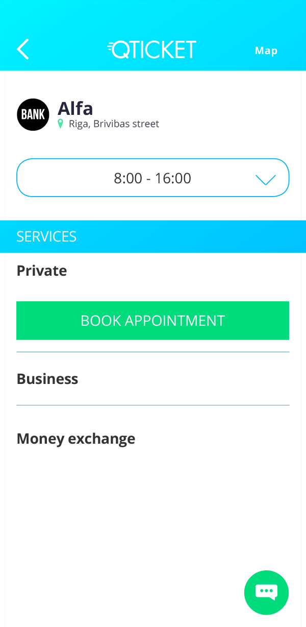 Qticket book appointment